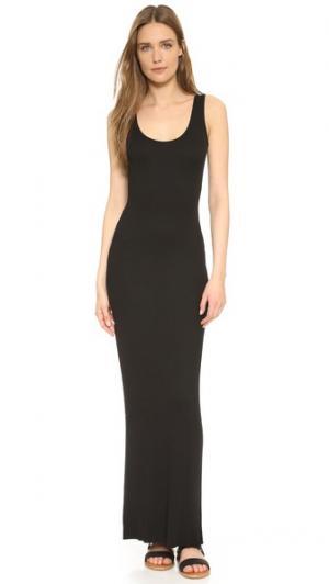 Рубчатое макси-платье без рукавов Enza Costa. Цвет: голубой