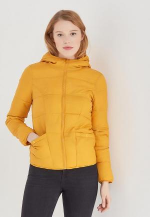 Куртка утепленная Miss Selfridge. Цвет: желтый