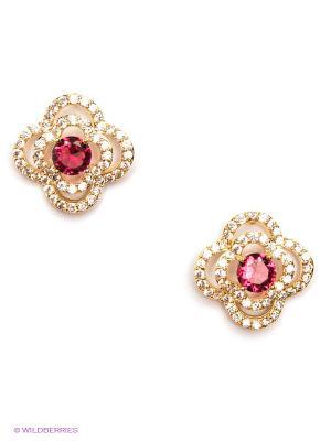 Серьги Royal Diamond. Цвет: золотистый, розовый