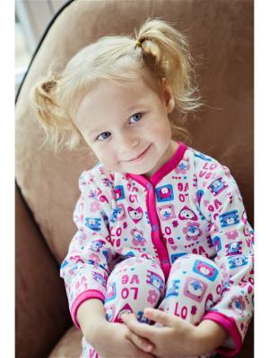 Комбинезон LOVE Lucky Child. Цвет: бирюзовый, молочный, розовый
