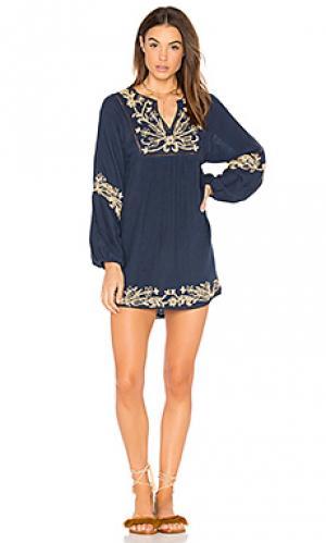Платье layan MISA Los Angeles. Цвет: синий
