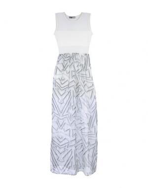 Длинное платье GRINKO. Цвет: белый