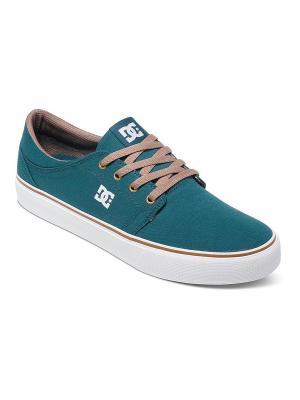 Кеды DC Shoes. Цвет: морская волна, голубой