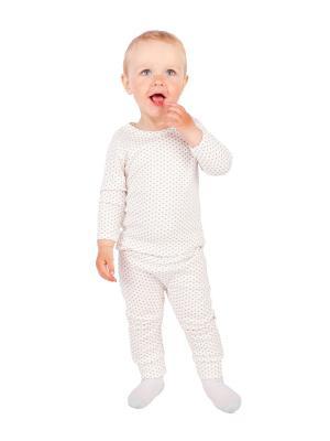 Комплект одежды Апрель. Цвет: молочный, коричневый