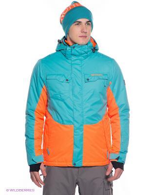 Куртка BRUNOTTI. Цвет: оранжевый, морская волна