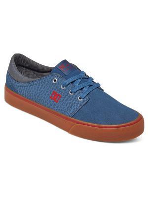 Кеды DC Shoes. Цвет: синий, коричневый