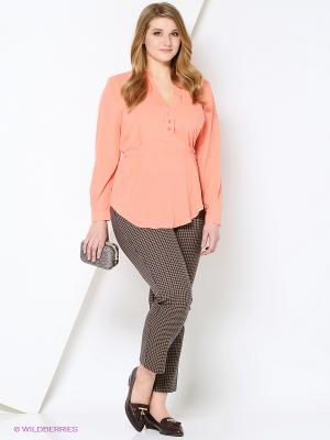 Блузка VISERDI. Цвет: персиковый