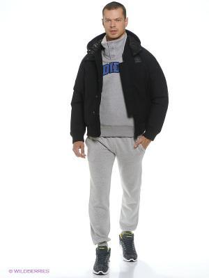 Пуховик Down Sst Adidas. Цвет: черный