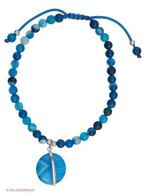 Браслет JV ДЖЕЙ ВИ. Цвет: серебристый, синий, голубой