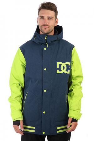 Куртка утепленная DC Dcla Jkt Tender Shots Shoes. Цвет: синий,желтый