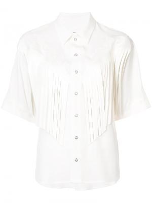 Рубашка с бахромой Toga. Цвет: белый
