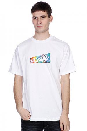 Футболка  Paper Tie Dye White Cliche. Цвет: белый