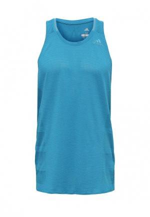 Майка спортивная adidas. Цвет: синий