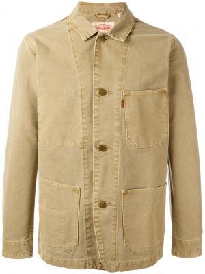 Джинсовая куртка Engineers Levis Levi's. Цвет: коричневый
