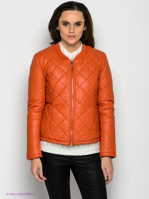 Куртка ONLY. Цвет: оранжевый