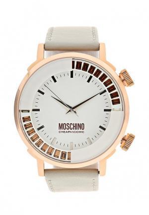 Часы Moschino. Цвет: серый