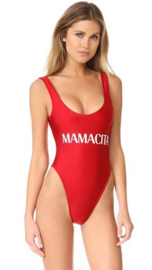 Сплошной купальник Mamacita Private Party. Цвет: красный
