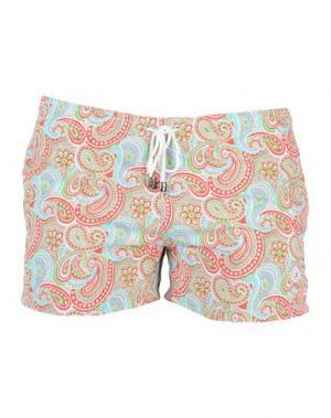 Пляжные брюки и шорты LUIGI BORRELLI NAPOLI. Цвет: голубиный серый