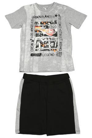 Комплект: майка, шорты Dodipetto. Цвет: серый, черный