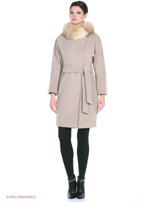 Пальто Electrastyle. Цвет: серо-коричневый
