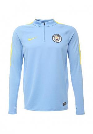 Лонгслив спортивный Nike. Цвет: голубой
