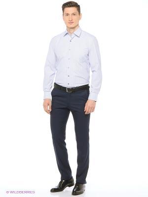 Рубашка мужская с длинным рукавом в полоску Mr. Marten. Цвет: белый