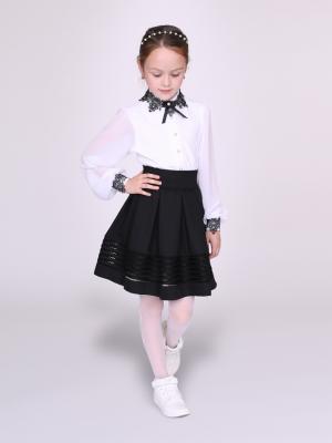 Блузка nasha. Цвет: черный, белый