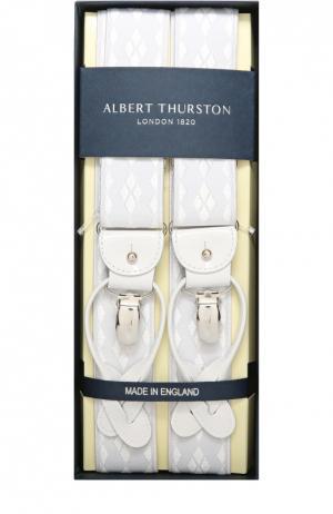 Подтяжки Albert Thurston. Цвет: белый