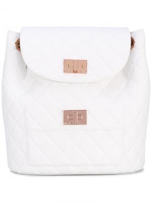 Стеганый рюкзак Designinverso. Цвет: белый