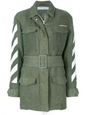 Куртка милитари Off-White. Цвет: зелёный