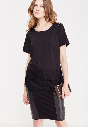 Блуза Silvian Heach. Цвет: черный