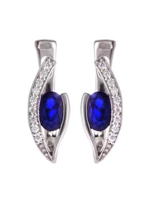 Серьги Sandara. Цвет: серебристый, синий
