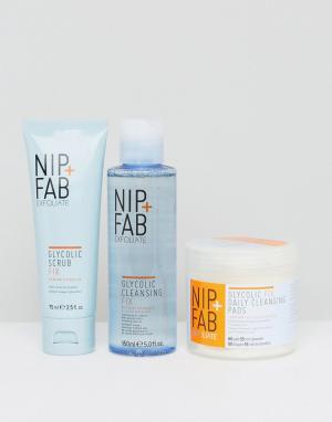 Nip+Fab Набор очищающих средств с гликолевой кислотой. Цвет: мульти