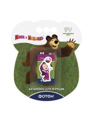 Батарейка 9V Маша и медведь + наклейка Фотон. Цвет: зеленый
