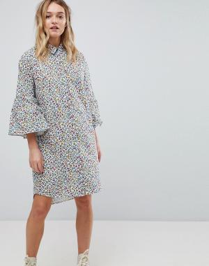 PS Paul Smith Платье-рубашка by. Цвет: белый