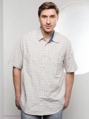 Рубашка Westrenger. Цвет: бежевый