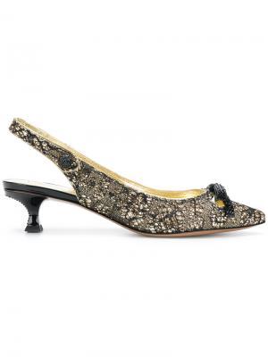Туфли с ремешком на пятке Abbey Marc Jacobs. Цвет: металлический