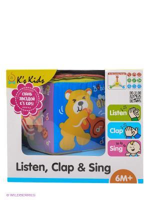 Музыкальный кубик K'S Kids. Цвет: голубой, салатовый, фиолетовый