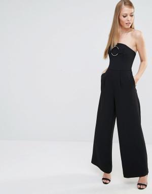 C/meo Collective Комбинезон с широкими штанинами. Цвет: черный