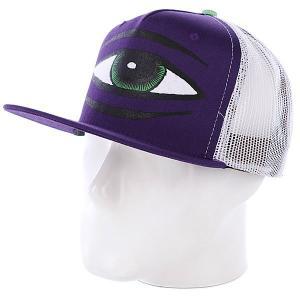 Бейсболка  Sect Eye Purple Toy Machine. Цвет: белый,фиолетовый