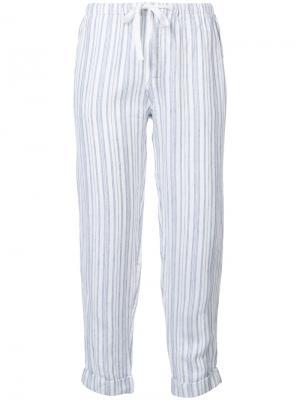 Укороченные брюки в полоску Joie. Цвет: белый