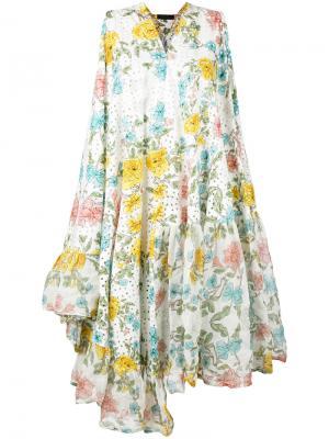 Платье с цветочным принтом Area Di Barbara Bologna. Цвет: многоцветный
