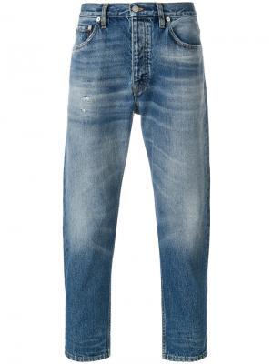 Укороченые джинсы в винтажном стиле Harmony Paris. Цвет: синий