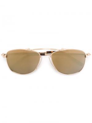Солнцезащитные очки авиаторы Matsuda. Цвет: металлический