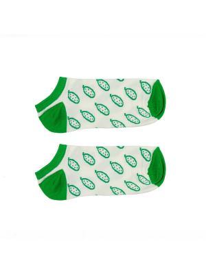 Носки ЗАПОРОЖЕЦ Огурцы короткие. Цвет: белый, зеленый