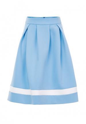Юбка LO. Цвет: голубой