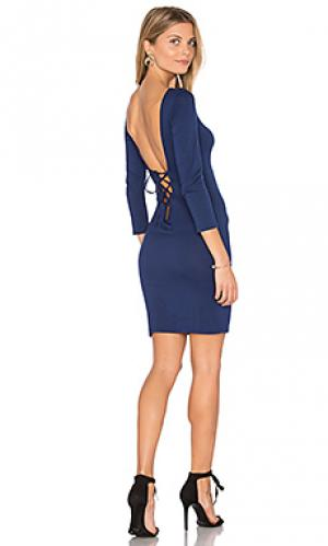 Платье ozma Clayton. Цвет: синий