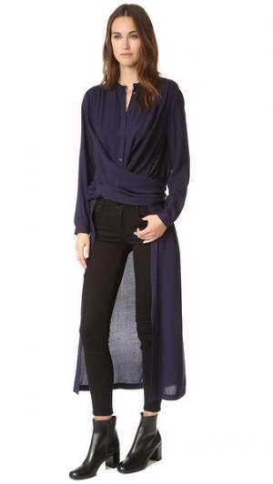 Платье-рубашка Art Rodebjer. Цвет: темно-синий