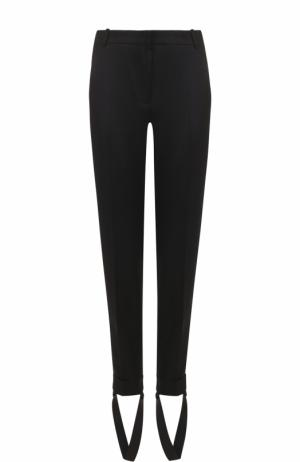 Шерстяные брюки-скинни Carven. Цвет: черный