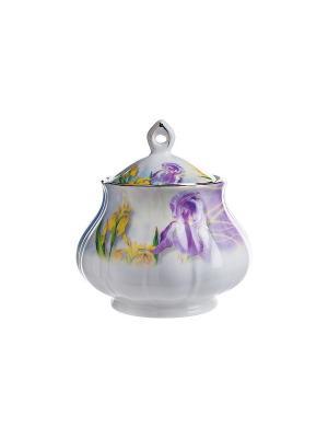 Сахарница Акварель Elff Ceramics. Цвет: белый, фиолетовый, желтый